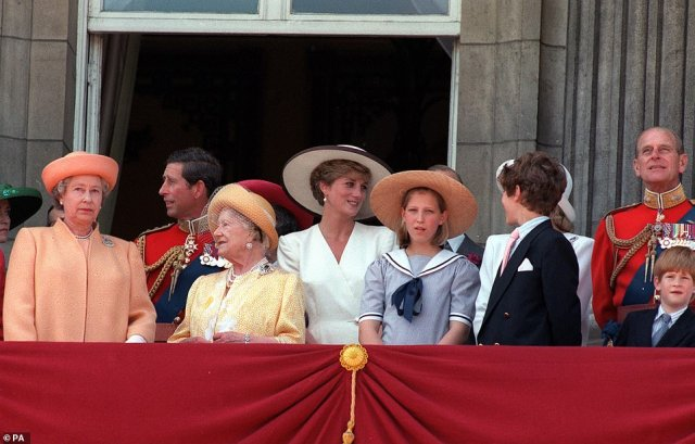 1992 — ANNUS HORRIBILIS: Member of the Royal Family on the balcony of Buckingham Palace after the Trooping the Colour in London. The Queen this year marked her 40th year on the throne, but it was not a happy one: it was marked by the separation of Charles and Diana and a huge fire at Windsor Castle, leading the Queen to dub 1992 her 'annus horribilis' or horrible year.
