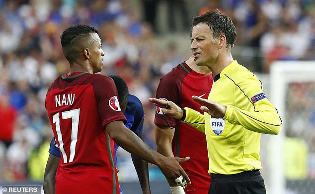 But it didn't do me any harm, I ended up refereeing the final between Portugal and France