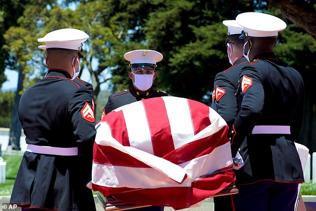 Eighty years after he died in the attack on Pearl Harbor and just months after his remains were finally identified, the California Marine has been laid to rest with full military honors