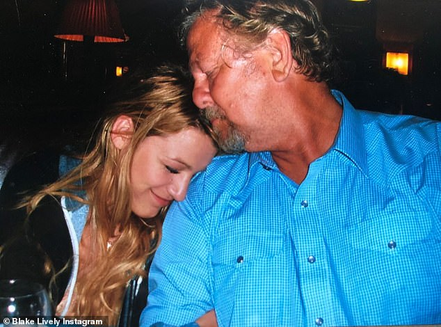 Loved and missed: Blake Lively remembered her late father Ernie online on Thursday, the day after news of his death was made public