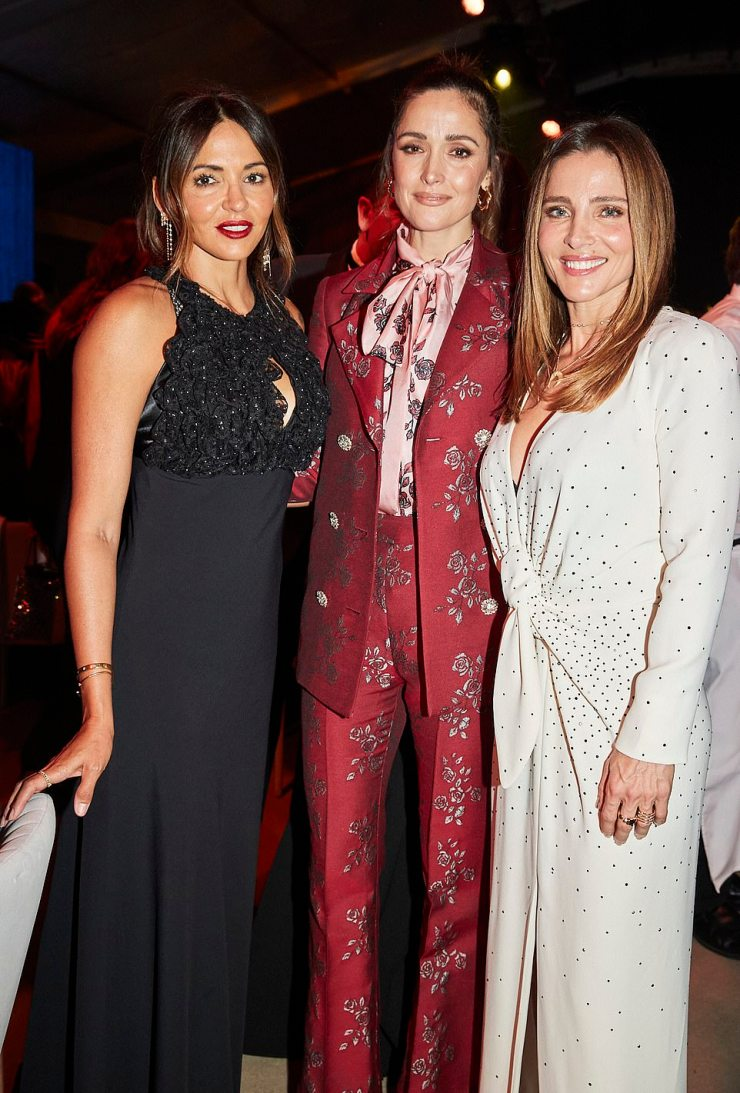 All that glitters: Other guests included Lucciana Barroso (left) - the wife of actor Matt Damon, who was not present despite currently being in Australia - and actress Rose Byrne (centre). Right: Elsa Pataky
