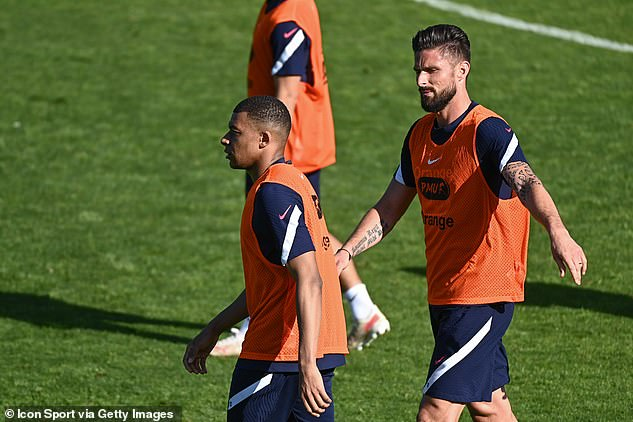 Tensions have been high in the France camp after a rift between Mbappe and Olivier Giroud