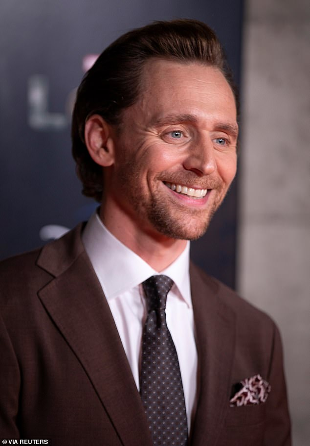 Main man: Hiddleston was pictured at a screening in London on Wednesday