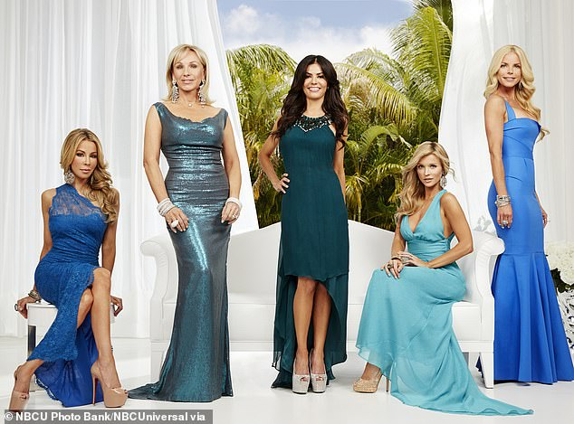 Earlier this month: UsWeekly announced that Real Housewives Of Miami is returning to Bravo after initially airing from 2011 to 2013 for three seasons.  Pictured: (ld) Lisa Hochstein, Lea Black, Adriana De Moura, Joanna Krupa, Alexia Echevarria