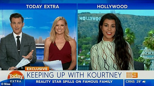 Who?During the interview, which was conducted via satellite with Australia's Today Extra, Kourtney went quiet and starting ignoring host David Campbell after being questioned about sister Kim's Paris robbery
