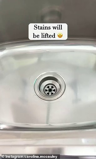 Not only was the stain removed but the sink was also left looking sparkling clean as if it were brand new.
