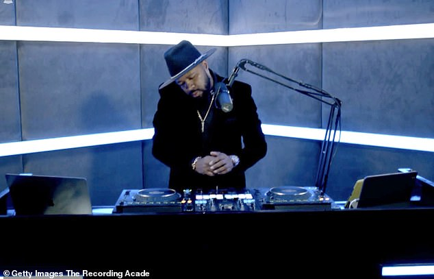Speaking his mind: DJ D-Nice recently spoke about his meteoric rise to success during a recent appearance on the Spout podcast; he is pictured at the63rd Annual GRAMMY Awards in March
