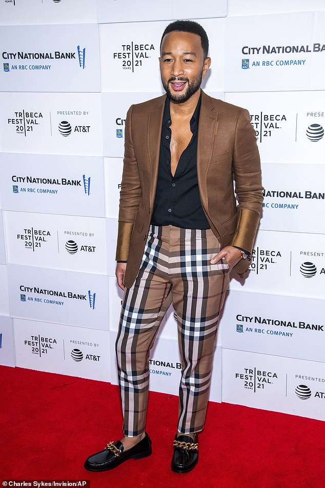 Celebrity: John Legend attended the the 2021 Tribeca Festival alone on Thursday evening as his controversy-plagued wife Chrissy Teigen remained at home.