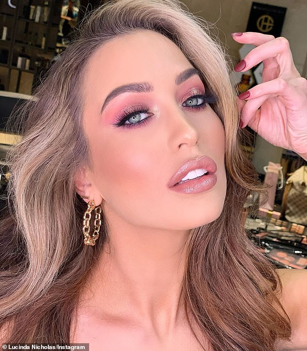 Last month, the former Miss World South Australia told The Daily Telegraph: 'Sometimes I would wear brown contact lenses to make me look more Indian, I guess you could say'