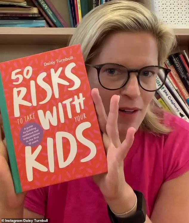 Ms Turnbull, who is co-parenting with her ex-husband James Brown, recently published a book about encouraging children to take risks
