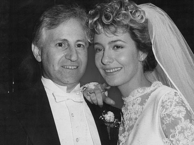 First marriage: In 1985, he married his first wife, 19-year-old model Leanne Nesbitt (right), at the age of 41