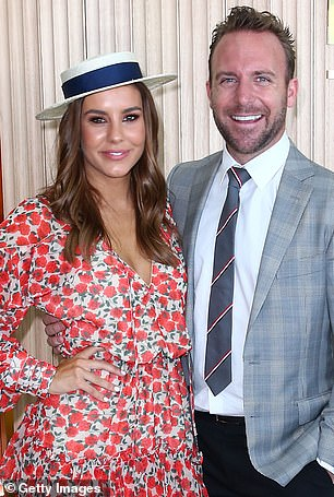 Relationships: Lauren made headlines in December 2018, when she split up from Lachlan Spark (left) after a year of marriage