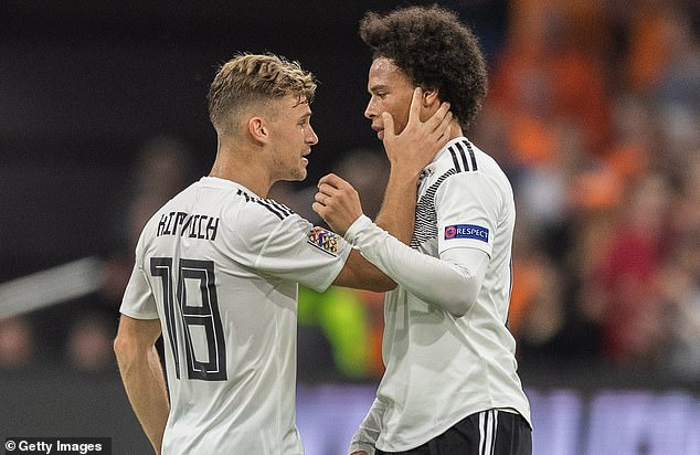 Joshua Kimmich (L) and Leroy Sane, team-mates at Bayern, will also be paired together