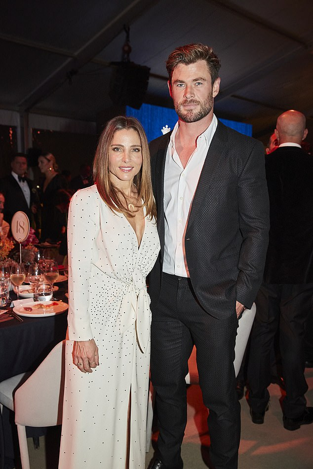 Early night? Chris Hemsworth and Elsa Pataky 'skipped the after-party' of the star studded Gold Dinner in Sydney on Thursday. Both pictured