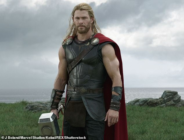 Very generous: Chris reportedly donated two tickets for the Sydney premiere of his new movie, Thor: Love and Thunder, to be released in 2022. The tickets went under the hammer for $60,000. Pictured: Chris in the role of Thor