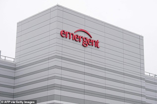 The shots were made at a Baltimore plant run by Emergent BioSolutions (above), which has come under fire after receiving several violations