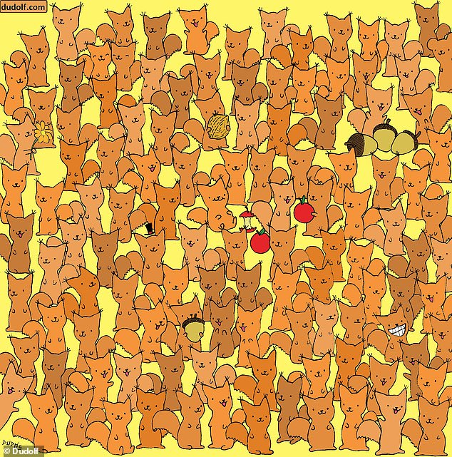 Players are challenged to find the only mouse hiding in a field full of squirrels - so can you spot the odd animal out?