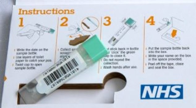 The 'gift' is in fact a faecal immunochemical test (FIT) and is part of the NHS bowel cancer screening programme