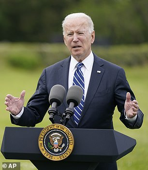 Biden is on an eight-day swing through Europe and is due to meet Putin in Geneva, Switzerland, on Wednesday after meeting G7, NATO and European Union leaders