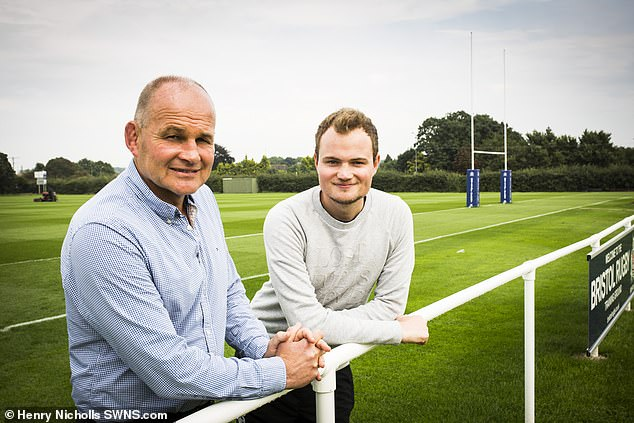Ed (right) has followed his father Andy (left) into becoming an England rugby coach