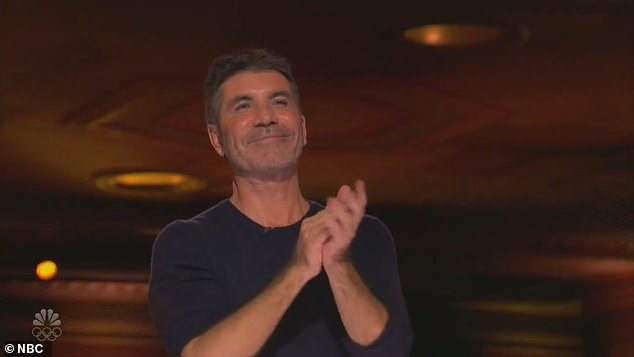 Wow: The singer, 29, who appeared on the music competition in 2011, appears to be joining the panel after the X Factor Wikipedia page listed her as a judge for the 16th series (pictured Simon Cowell)