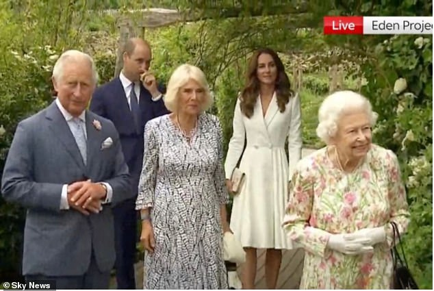 The Queen has arrived at the Eden Project in Cornwall for a no-holds-barred dinner with G7 leaders - as Britain pulls out all the stops to dazzle the world's most powerful