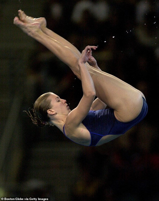Career: Wilkinson (pictured at the 2000 Olympics) went on to compete in two more Olympics Games before retiring from diving in 2008