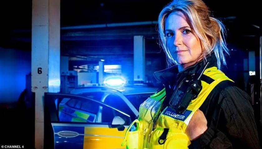 Where it began: She was inspired to undergo training after taking part in Channel 4's 2019 series, Famous and Fighting Crime, in which celebrities shadowed police offers on the beat