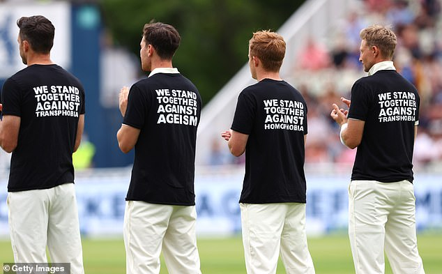 But he was critical of cricket's approach, which has consisted of the players wearing T-shirts branded with messages aimed at seven types of discrimination