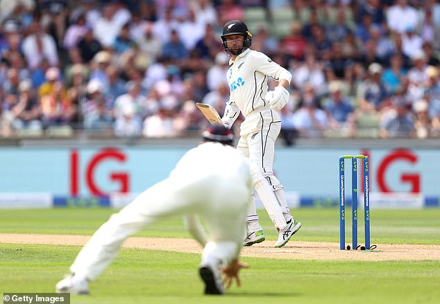 Stuart Broad was convinced he had Conway caught at third slip by Zak Crawley
