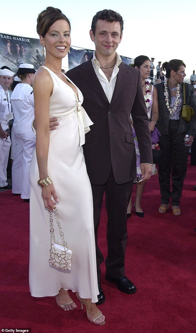 First born: He is also the father to Lily Mo, 22, with his ex Kate Beckinsale (pictured together in 2001)