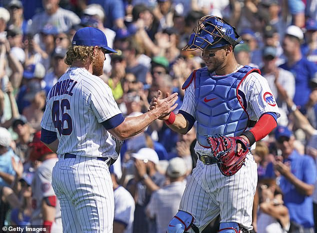 Cubs win! Cubs fans were able to go home happy as the team beat the Cardinals 8 to 5