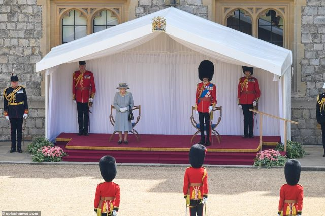 Lieutenant Colonel Guy Stone and his team have been working for months to stage the event at Windsor Castle which has been dubbed a mini Trooping the Colour
