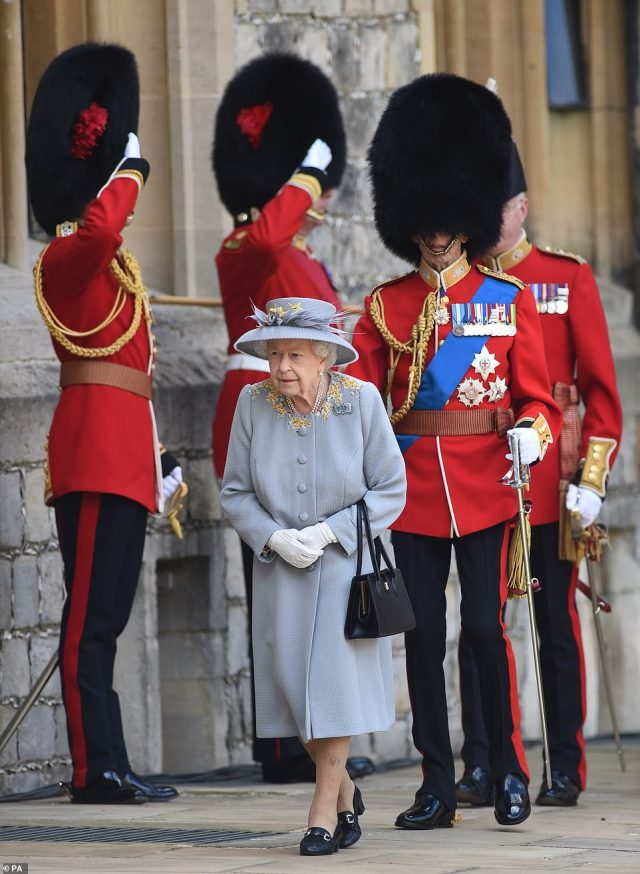 The birthday parade is a gift from the Household Division - the Army's most prestigious regiments - which has a close affinity with the monarch and is keen to show its loyalty to the Crown