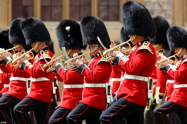 The traditional Trooping the Colour ceremony, which is normally staged in London and features hundreds of servicemen and women and thousands of spectators, was ruled out for the second successive year because of the threat of coronavirus