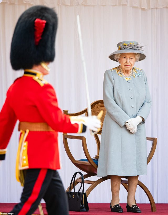 Lt Col Stone, who serves with the Welsh Guards, is Brigade Major Household Division and was in overall charge of the military arrangements for the Duke of Edinburgh's funeral