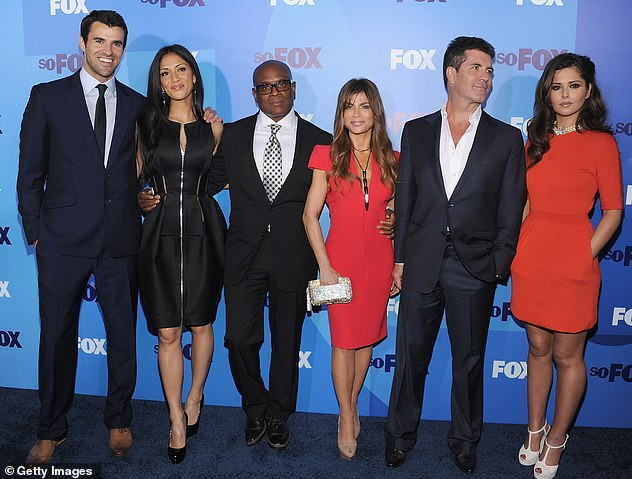 Dream team: The digital encyclopedia also stated that Simon, Nicole Scherzinger (pictured far left) and Cheryl (pictured far right) will resume their judging roles on the new season