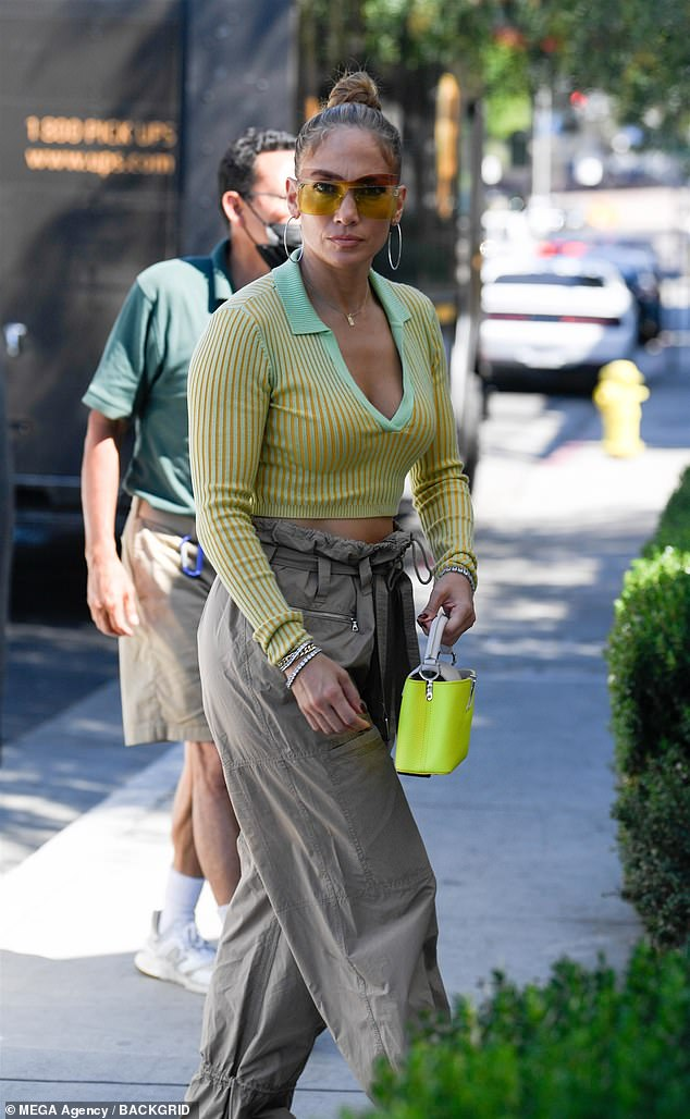 Together again:Jennifer Lopez and Ben Affleck have reunited in Los Angeles after spending a short stint apart while JLo shot a music video in Miami