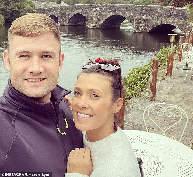 Wedding bells!Kym announced her engagement to her beau Scott on Saturday after he proposed on her birthday over the weekend