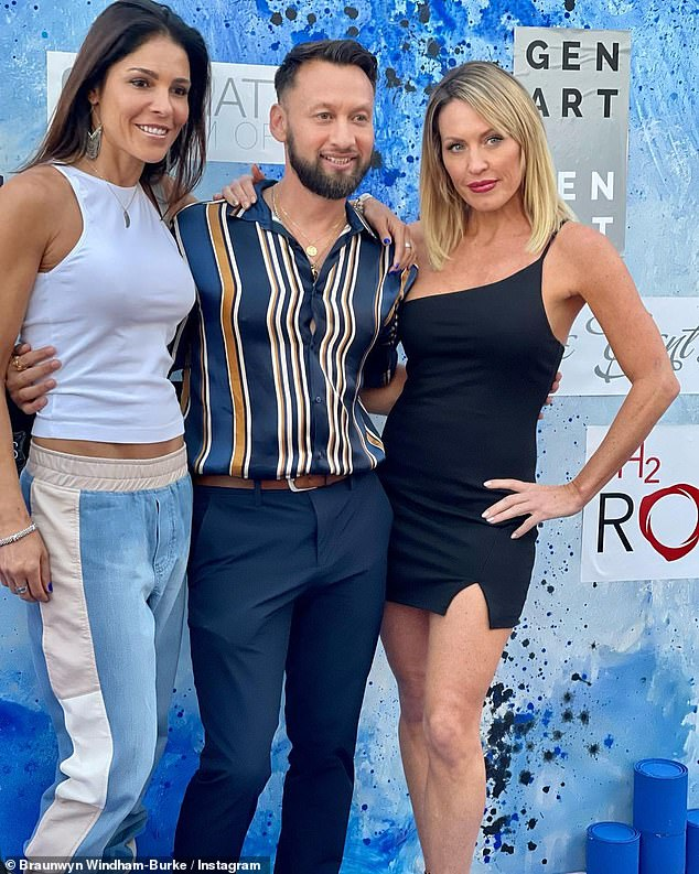 Article: The couple posed with magazine editor Amaré George Rojas in a photo the reality TV star posted on Instagram on Friday