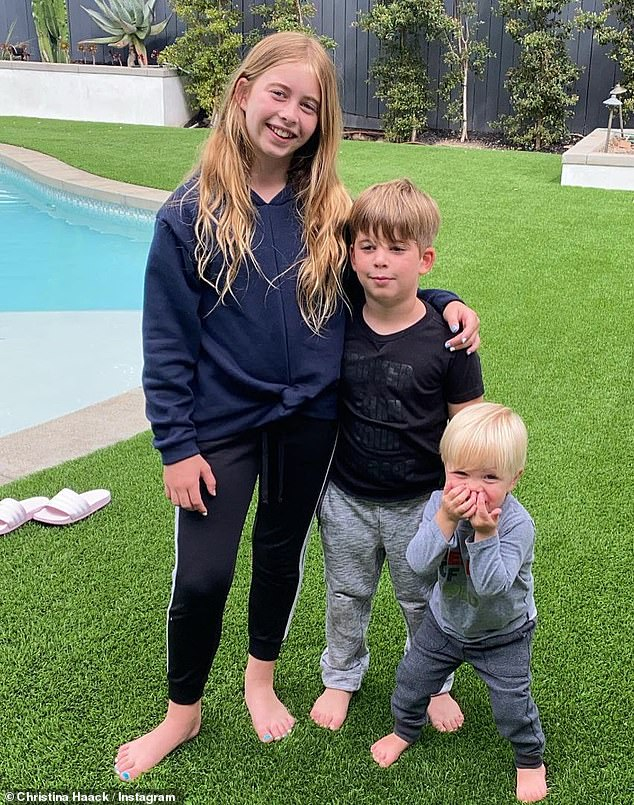 Family matters: Haack also has a one-year-old son Hudson with her second ex-husband Ant Anstead, an English television presenter who's best known for the series For The Love Of Cars