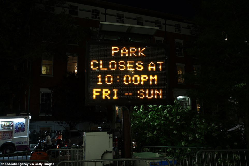 The landmark park has been plagued by noisy parties with complaints becoming so bad the NYPD imposed a 10 p.m. curfew two weeks ago that lifted Saturday