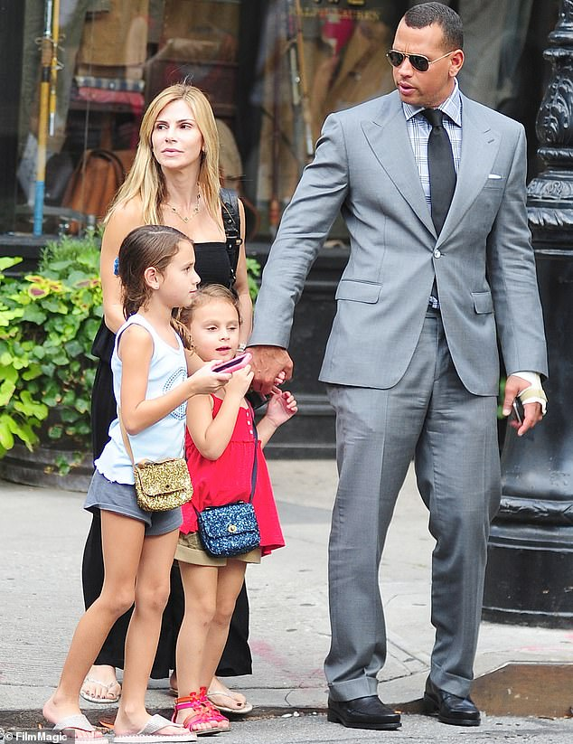 As seen in 2012: Alex was married to Cynthia from 2002-2008 and together they welcomed two daughters into the world - Natasha, 16, and Ella, 13.