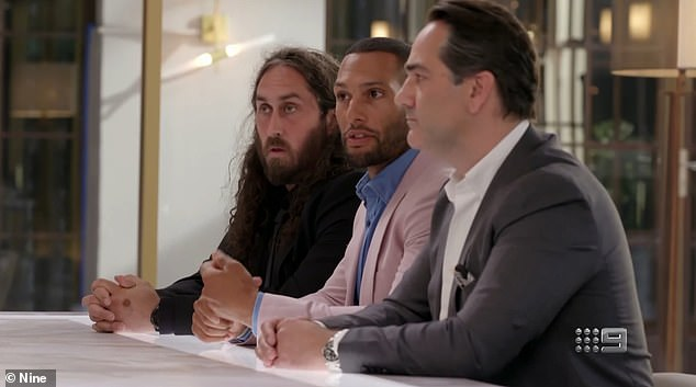 Goner?Although Lord Sugar placed some of the blame on comedian Ross Noble, 45, (left) for having 'mad ideas' that he could not see through, and Australian rules footballer Josh Gibson, 37, (centre) for 'sitting on the fence', it was Wippa who was sacked