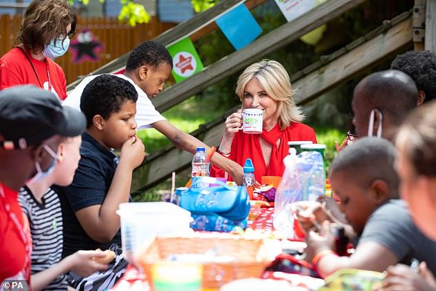 Cuppa:She also urged others to host their own fundraising Big Lunch fundraising events