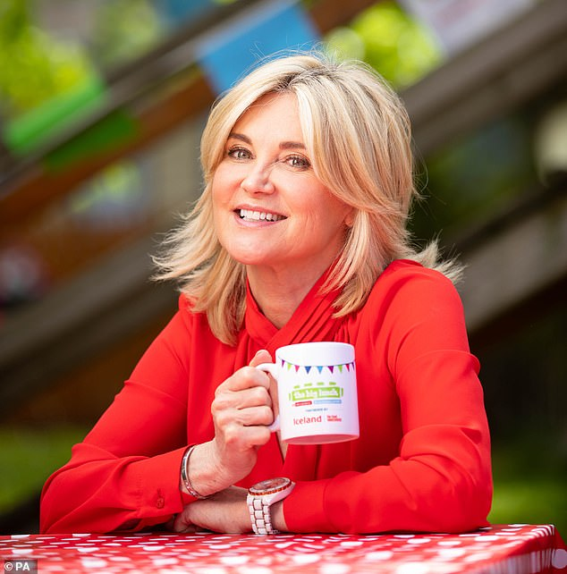 Good cause:Anthea Turner helped serve lunch to a charity's staff, volunteers and beneficiaries at an event to help vulnerable children who have been adversely affected by the pandemic