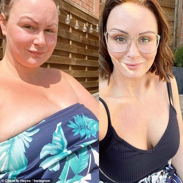 Looking good! Chanelle recently shared before and after weight loss snaps and said losing weight has 'made the heat enjoyable'