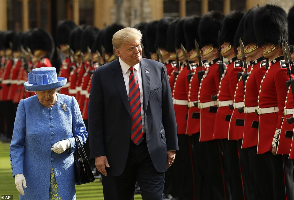 The carefully-choreographed arrangements to welcome Mr Biden echo the welcome given to Donald Trump in 2018, when the controversial then-US president travelled to Windsor to meet the monarch
