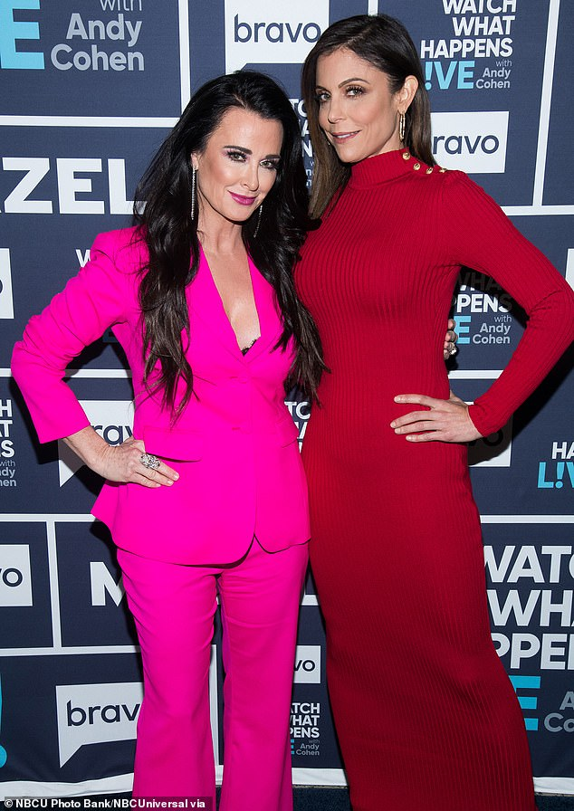 Decade-long pals: The ladies go way back after meeting in LA before both were housewives but Kyle said that after Bethenny 'unfollowed' her, she returned the favor; pictured 2018
