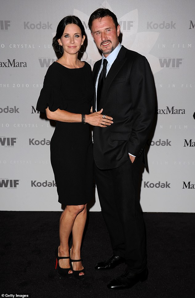 Getting along:Since their split, Courteney and David have enjoyed a very friendly relationship as they co-parent Coco. Seen in 2010
